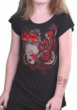 Iron Fist Girls Black Red Mugsy Bugs Fashion Youth Little Kids Top T-Shirt NWT