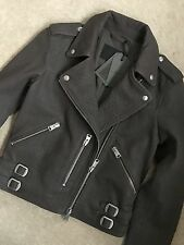 """ALL SAINTS TAUPE BROWN """"WATSON"""" LEATHER BIKER JACKET COAT - UK 6 - NEW TAGS"""