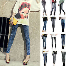 R Sexy Lady Slim Jeans Stretchy Jeggings Leggings Skinny Pencil Pants Trousers