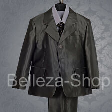 Boys Formal Suit Wedding Christening Outfit 5 pcs Size 2T-7 ST017A