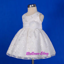 Ivory Embroidery Scoop Dress Wedding Pageant Party Birthday Size 9Months-5 FG272