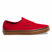 Vans AUTHENTIC Canvas GUM RACING RED BLACK New In Box
