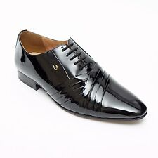 MENS SPANISH PATENT LEATHER SHOES DESIGNER SMART PARTY WEDDING SHOES