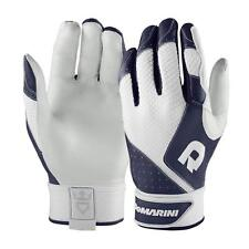 New Womans Size-L DeMarini Phantom Sheep Skin Leather Batting Gloves - Navy Blue