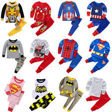 Kids Toddler Baby Boys Super Hero Casual Cotton Sleepwear Nightwear Pajamas Sets
