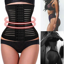 Hot Women Steel boned Waist Training Cincher Underbust Corset Body Shaper Sport@