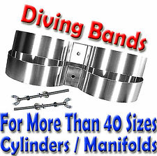 Scuba Diving Twin Cylinder Band scuba Tank Bands SS