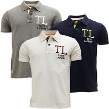 Mens Polo T Shirt Tokyo Laundry San Leandro Cotton Pique Collared Casual Top