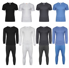 Mens Thermal Long Johns Long/Short Sleeve T-Shirts Winter Warm Thermal Underwear