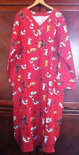 NWT Women's Cotton Flannel Cat Long Nightshirt Pajamas Red Pockets Paragon