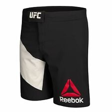New Reebok UFC Fight Kit Octagon Fight Shorts - Black/White