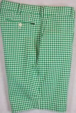 Polo Ralph Lauren Shorts Green Checked Stretch Classic Fit Sizes 30 33 34 NWT