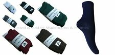 BOYS / GIRLS SIZE 9-12 COLOURED 75% COTTON SCHOOL ANKLE SOCKS 3-6-9-12 PAIRS