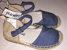 Girl's Old Navy Blue Tweed Ankle Strap Shoes, Size 8, 10