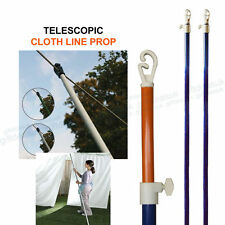 Metal Telescopic Clothes Washing Line Prop Adjustable Pole Extending 2.4m
