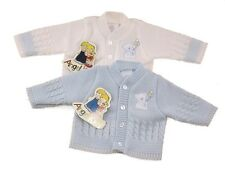 Baby Premature Prem Cardigan 3-5 lbs & 5-8lbs White or Blue Cute Bear Early Baby