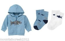 GYMBOREE Boys Outfit UNDERWATER ADVENTURE Size 0 3 months Jacket & Socks Set NEW