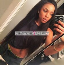 """Indian Remy Full Lace Wig Silky Straight Human Hair Wigs For Black Women 12-22"""""""