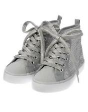 NWT GYMBOREE CHARM CLASS SILVER SEQUIN HIGH TOP SNEAKERS SHOES 10 11 Girls
