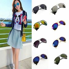 Unisex Women Men Vintage Glasses Retro Fashion Mirror Lens Sunglasses LJ