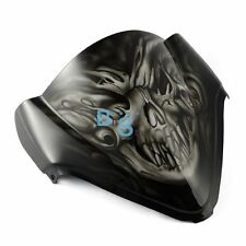 Airbrushed White Skull Windscreen Windshield For Honda Fairing motorcycle