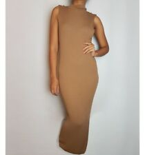 Marks & Spencer Autograph Camel Funnel Neck Knitted Midi Dress 8/10/12/14/18