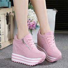 Womens Ladies Shoes Sneakers Lace Up Platform Wedges Ankle Boots Winter Shoes YT