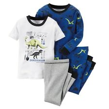 Carters Baby Boys 4-Piece Glow-In-The-Dark Cotton Dinosaur PJs Fossil Expert