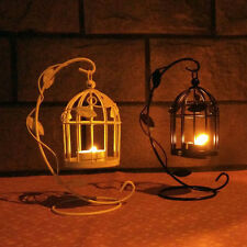 Moroccan StyleLeaves Decor Vintage  Bird Cage Candle Lantern Holder Candlestick