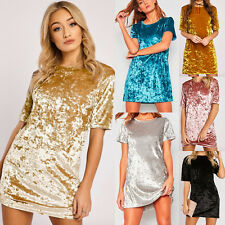 Women Sexy Short Sleeve Bobycon Dress Package Hip Evening Party Club Mini Dress