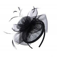 Classic Black Flower Ladies Fascinator Ideal For Events
