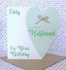 Personalised Handmade Birthday Card, Brother, Son, Uncle, Husband, Grandad