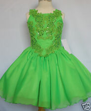 Baby & Girl National Glitz Pageant Wedding Formal Party Dress 5 6 7 years Green