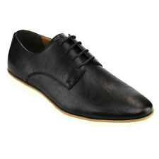 Men's Flat Dress Formal Black Shoes Lace Up Oxfords Office Casual ARIDER ALAN-03