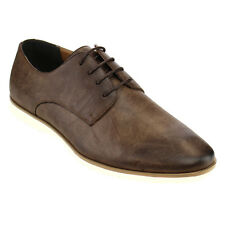 Men's Flat Dress Formal Brown Shoes Lace Up Oxfords Office Casual ARIDER ALAN-03