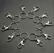 10/20 Finding Clasps Hooks Bag Charm Swivel Trigger Clips Key Ring Split Lobster