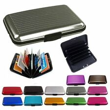Slim Business ID Credit Card Wallet Holder Aluminum Metal Pocket Case Box Pu#X8