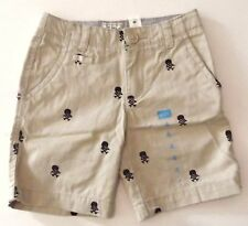 New Boys Khaki Twill Embroidered Cotton Shorts The Childrens Place Size 4