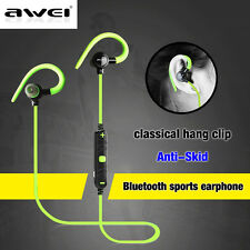 Awei Bluetooth Wireless Headsets Sports Noise Isolation MIC Earphones Headphones