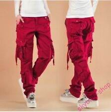 Fashion Women Loose Fit Casual Cargo Straight Leg Pants Outdoor Hiking Trousers