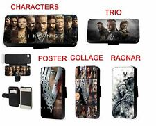 Vikings tv Ragnar Lagertha leather phone case iPhone Samsung 5 6 7 s6 s7 a3 a5