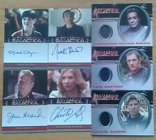 Battlestar Galactica Prem. Season One Two Three Costume Autograph trading cards