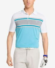 NWT Men IZOD Engineered Stripe Performance Golf Polo Shirt 498646 Bright White S