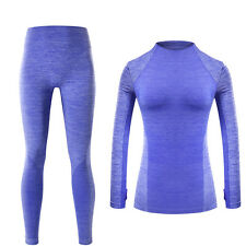 Womens yoga Compression Thermal Underwear set Quick Dry Breathable long johns