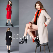 New Women's Wool Blend Duffle Coat Knee Long Jacket Warm Winter Overcoat Outwear