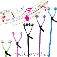 3.5mm In-ear Stereo Headset Earbuds Headphone with Mic Zipper Earphone Hot LX