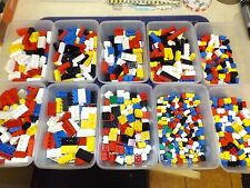 MIXED CLEAN LOTS LEGO HAND SORTED BRICKS 4X2 3X2 2X2 2X1 .SOME VINTAGE 100 PARTS