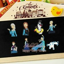 100PCS Princess Elsa Olaf Fridge Refrigerator Magnets,Magnetic Stick Kids Gifts