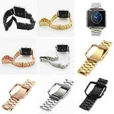 Metal Frame + Tainless Steel Bracelet Strap Watch Band + Glass For Fitbit Blaze