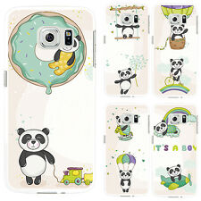 3D Cute Panda Print Phone Case Cover for iPhone 6S 7 Plus Samsung Galaxy Flowery